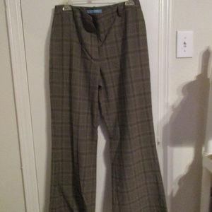 Antonio Melani Wide leg women's pants brown plaid